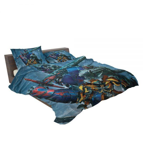 Transformers The Last Knight Movie Bumblebee Megatron Optimus Prime Bedding Set 3