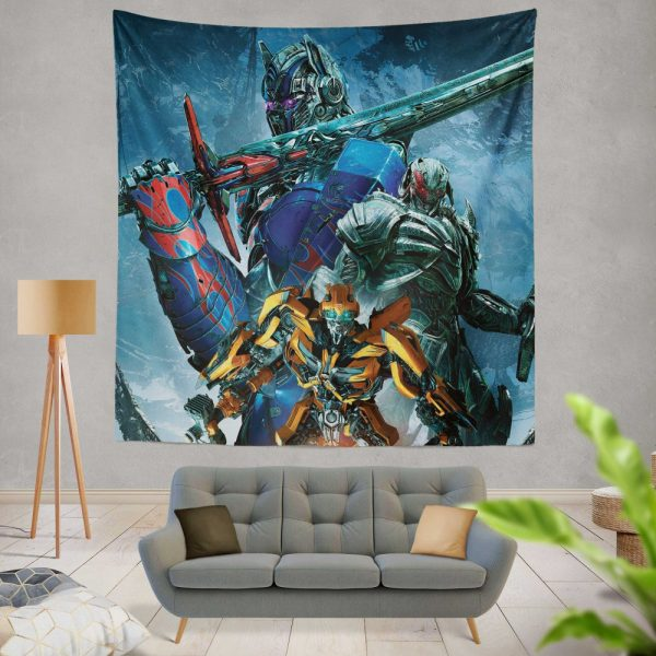 Transformers The Last Knight Movie Bumblebee Megatron Optimus Prime Wall Hanging Tapestry