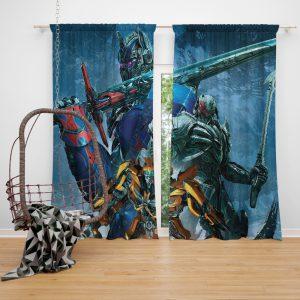 Transformers The Last Knight Movie Bumblebee Megatron Optimus Prime Window Curtain