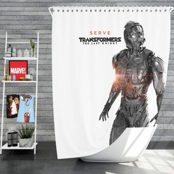 Transformers The Last Knight Movie Cogman Shower Curtain