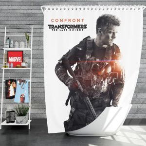 Transformers The Last Knight Movie Josh Duhamel Shower Curtain