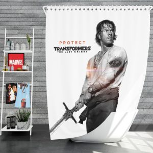 Transformers The Last Knight Movie Mark Wahlberg Shower Curtain