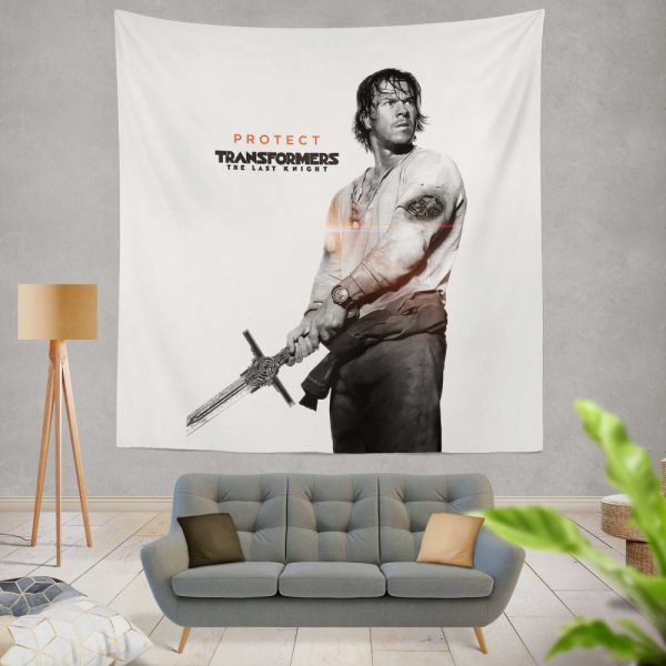 Transformers The Last Knight Movie Mark Wahlberg Wall Hanging Tapestry