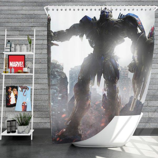 Transformers The Last Knight Movie Optimus Prime Robot Shield Sword Shower Curtain