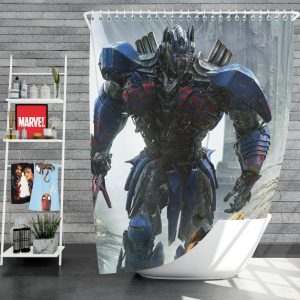 Transformers The Last Knight Movie Optimus Prime Shower Curtain