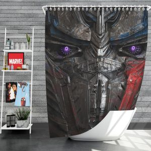 Transformers The Last Knight Movie Optimus Prime Transformers 5 Shower Curtain