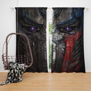 Transformers The Last Knight Movie Optimus Prime Transformers 5 Window Curtain