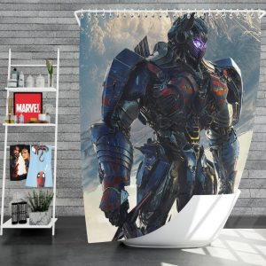 Transformers The Last Knight Sci-fi Thriller Movie Optimus Prime Shower Curtain