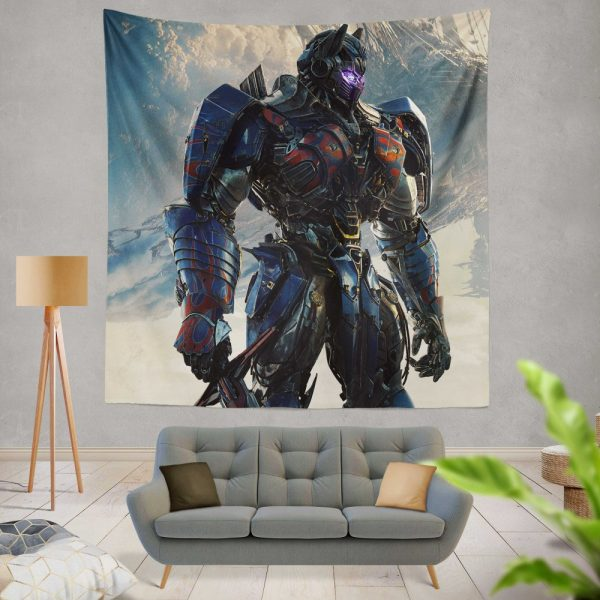 Transformers The Last Knight Sci-fi Thriller Movie Optimus Prime Wall Hanging Tapestry