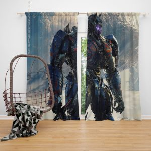 Transformers The Last Knight Sci-fi Thriller Movie Optimus Prime Window Curtain