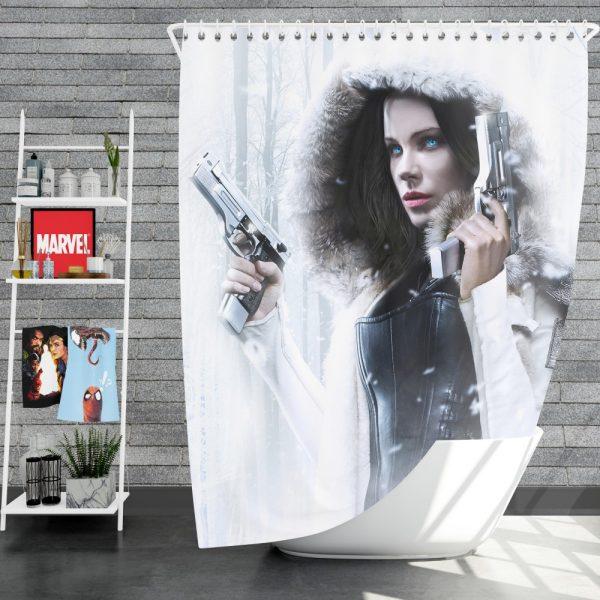 Underworld Blood Wars Fantasy Action Movie Kate Beckinsale Selene Shower Curtain