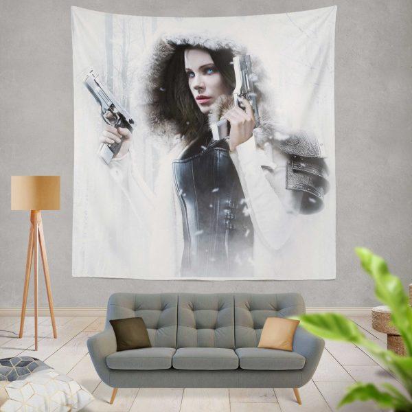 Underworld Blood Wars Fantasy Action Movie Kate Beckinsale Selene Wall Hanging Tapestry