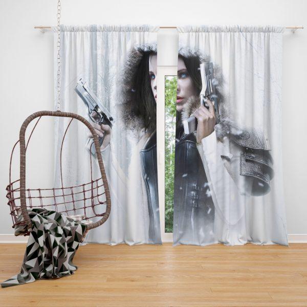 Underworld Blood Wars Fantasy Action Movie Kate Beckinsale Selene Window Curtain