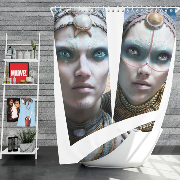 Valerian and the City of a Thousand Planets Movie Cara Delevingne Sergeant Laureline Shower Curtain