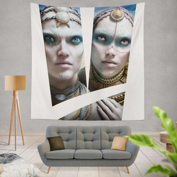 Valerian and the City of a Thousand Planets Movie Cara Delevingne Sergeant Laureline Wall Hanging Tapestry
