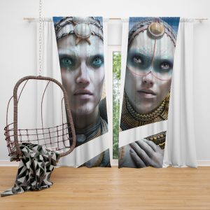 Valerian and the City of a Thousand Planets Movie Cara Delevingne Sergeant Laureline Window Curtain