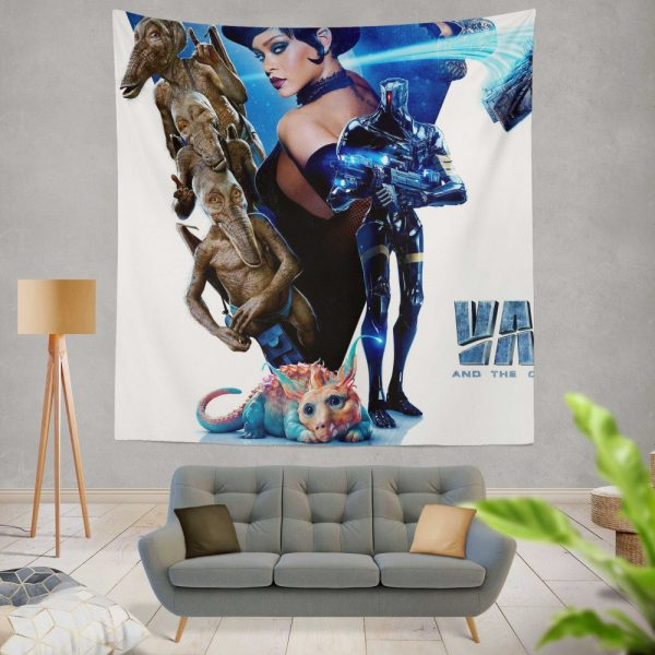 Valerian and the City of a Thousand Planets Movie Rihanna Wall Hanging Tapestry