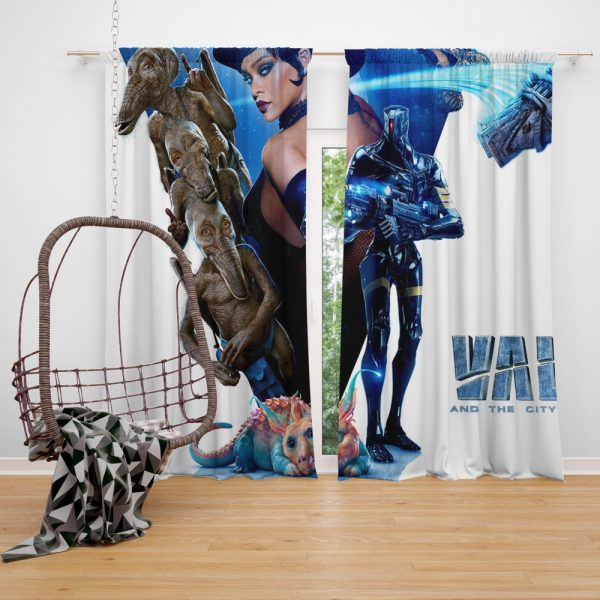 Valerian and the City of a Thousand Planets Movie Rihanna Window Curtain