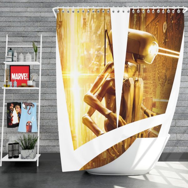 Valerian and the City of a Thousand Planets Movie Robot Shower Curtain