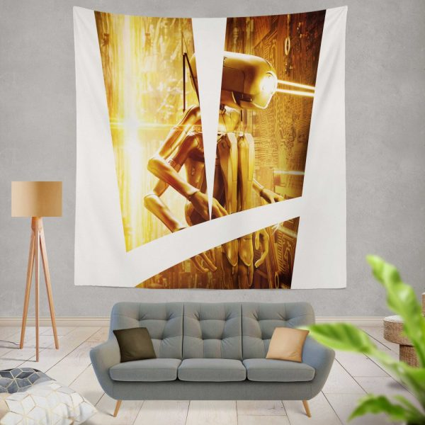 Valerian and the City of a Thousand Planets Movie Robot Wall Hanging Tapestry