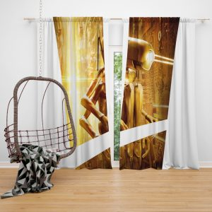 Valerian and the City of a Thousand Planets Movie Robot Window Curtain