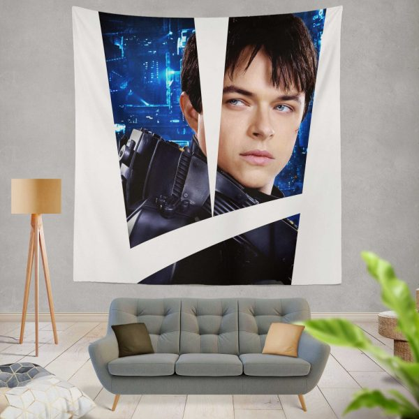 Valerian and the City of a Thousand Planets Movie Valerian Dane Dehaan Wall Hanging Tapestry