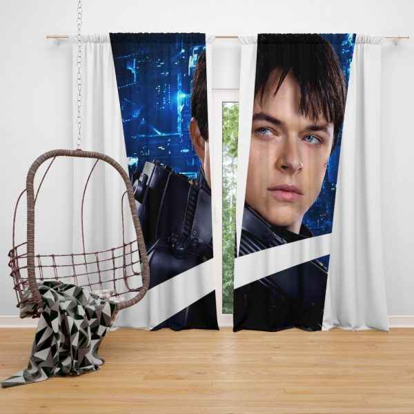 Valerian and the City of a Thousand Planets Movie Valerian Dane Dehaan Window Curtain