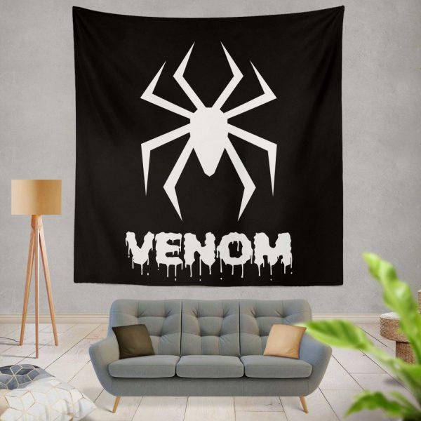 Venom Movie Black Shapes Symbol Venom Wall Hanging Tapestry