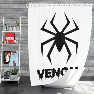 Venom Movie Black Symbol Shower Curtain