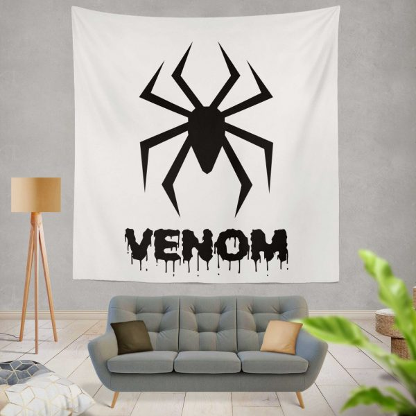 Venom Movie Black Symbol Wall Hanging Tapestry