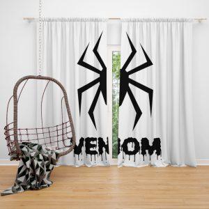 Venom Movie Black Symbol Window Curtain