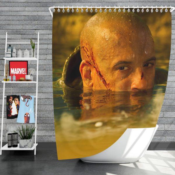 Vin Diesel in Riddick Movie Shower Curtain