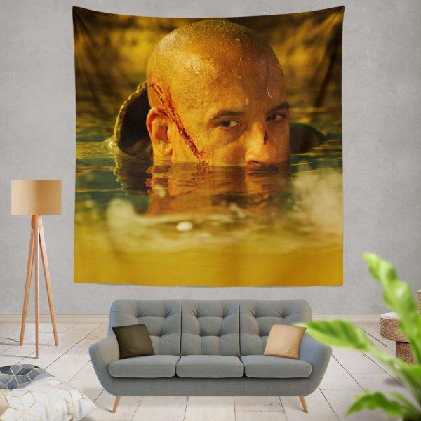 Vin Diesel in Riddick Movie Wall Hanging Tapestry