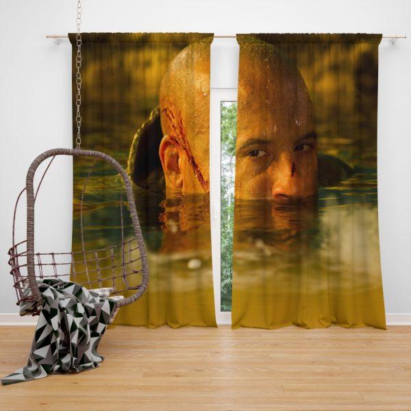 Vin Diesel in Riddick Movie Window Curtain