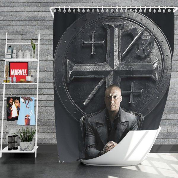 Vin Diesel in The Last Witch Hunter Movie Shower Curtain