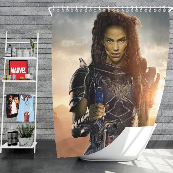 Warcraft Movie Armor Brunette Shower Curtain