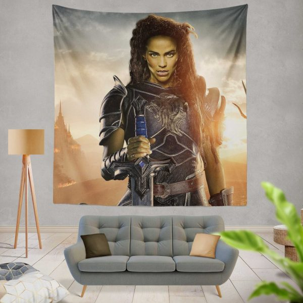 Warcraft Movie Armor Brunette Wall Hanging Tapestry