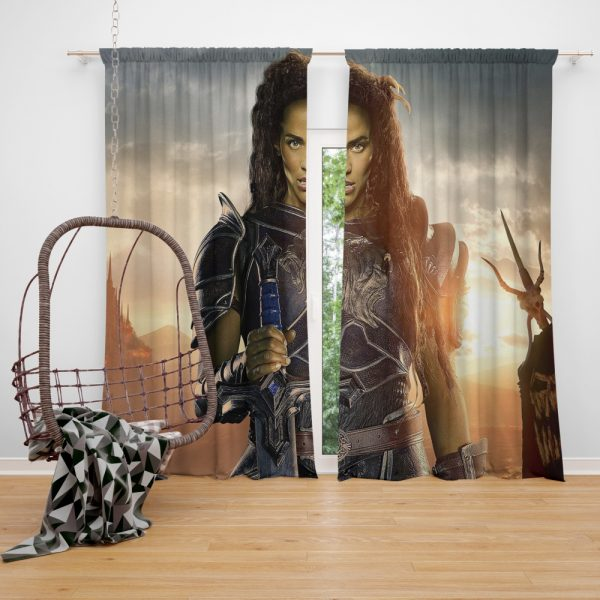 Warcraft Movie Armor Brunette Window Curtain