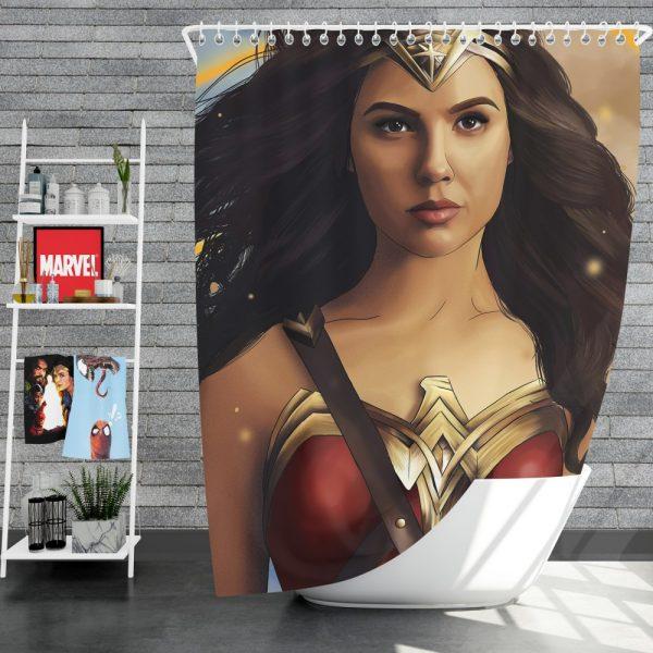 Wonder Woman Movie DC Comics Gal Gadot Woman Warrior Shower Curtain