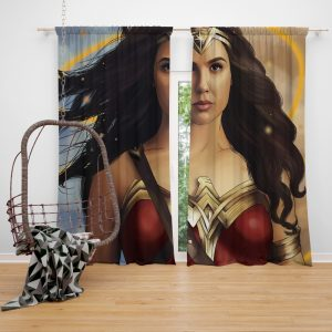 Wonder Woman Movie DC Comics Gal Gadot Woman Warrior Window Curtain