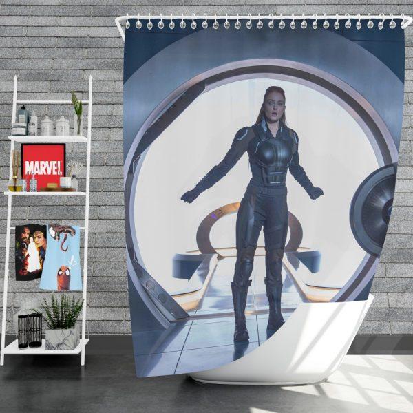 X-Men Apocalypse Movie Jean Grey Sophie Turner Shower Curtain