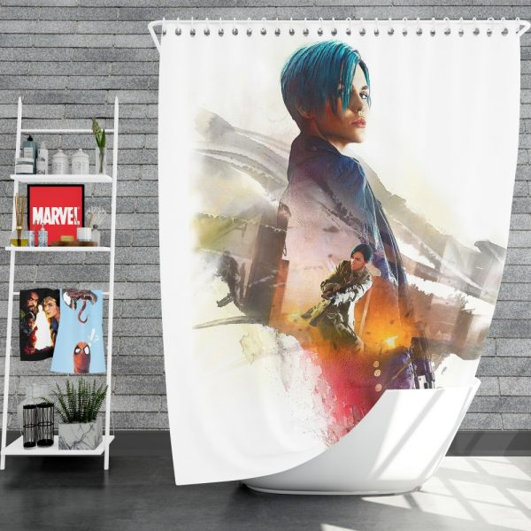 XXX Return of Xander Cage Movie Ruby Rose Adele Wolff Shower Curtain