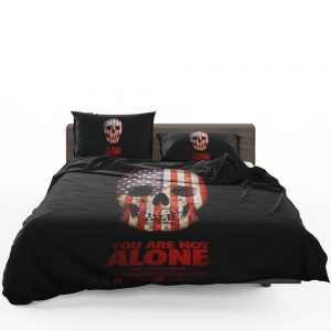 You Are Not Alone Movie Skull USA Bedding Set 1