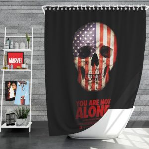 You Are Not Alone Movie Skull USA Shower Curtain