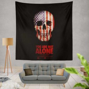 You Are Not Alone Movie Skull USA Wall Hanging Tapestry