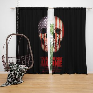 You Are Not Alone Movie Skull USA Window Curtain