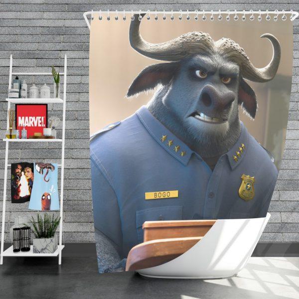 Zootopia Movie Chief Bogo Shower Curtain