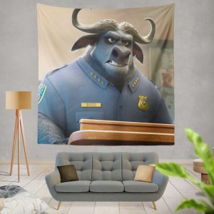 Zootopia Movie Chief Bogo Wall Hanging Tapestry