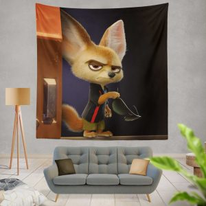 Zootopia Movie Finnick Wall Hanging Tapestry