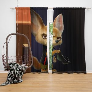Zootopia Movie Finnick Window Curtain